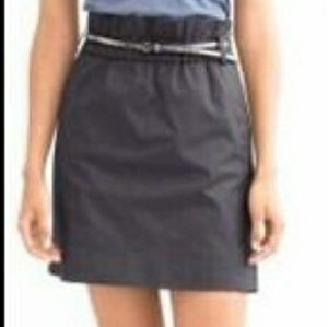 Banana Republic Black Paper Bag Waist Mini Skirt